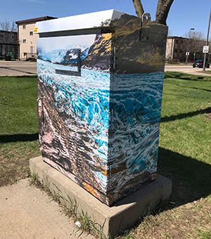 Example utility box wrap