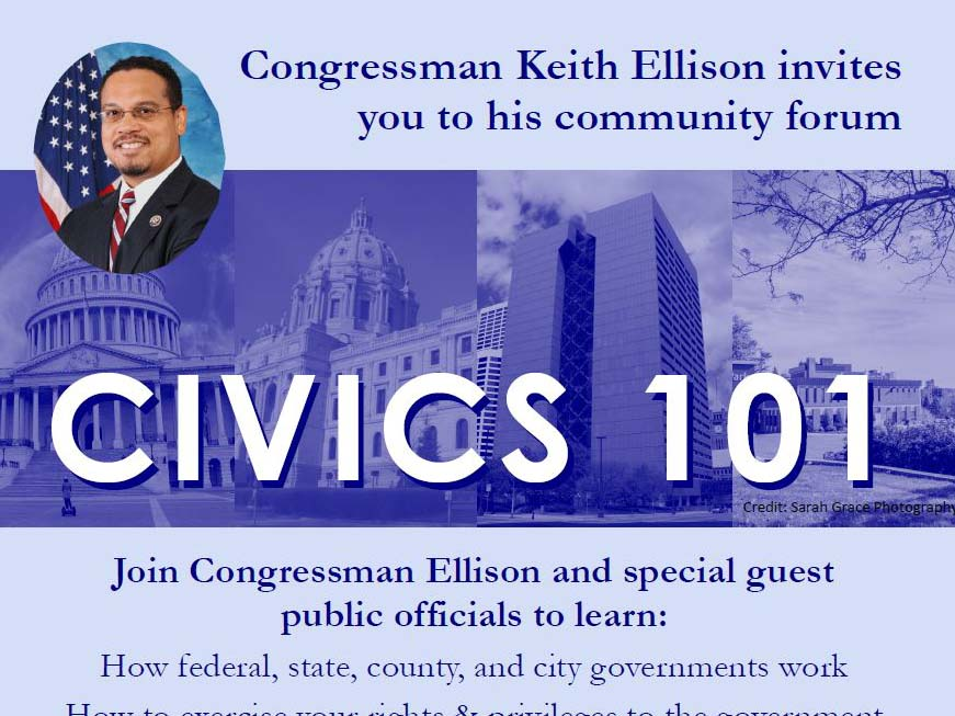 Congressman Ellison hosts Civics 101 event August 30
