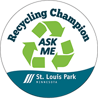 Recycling Champions Button