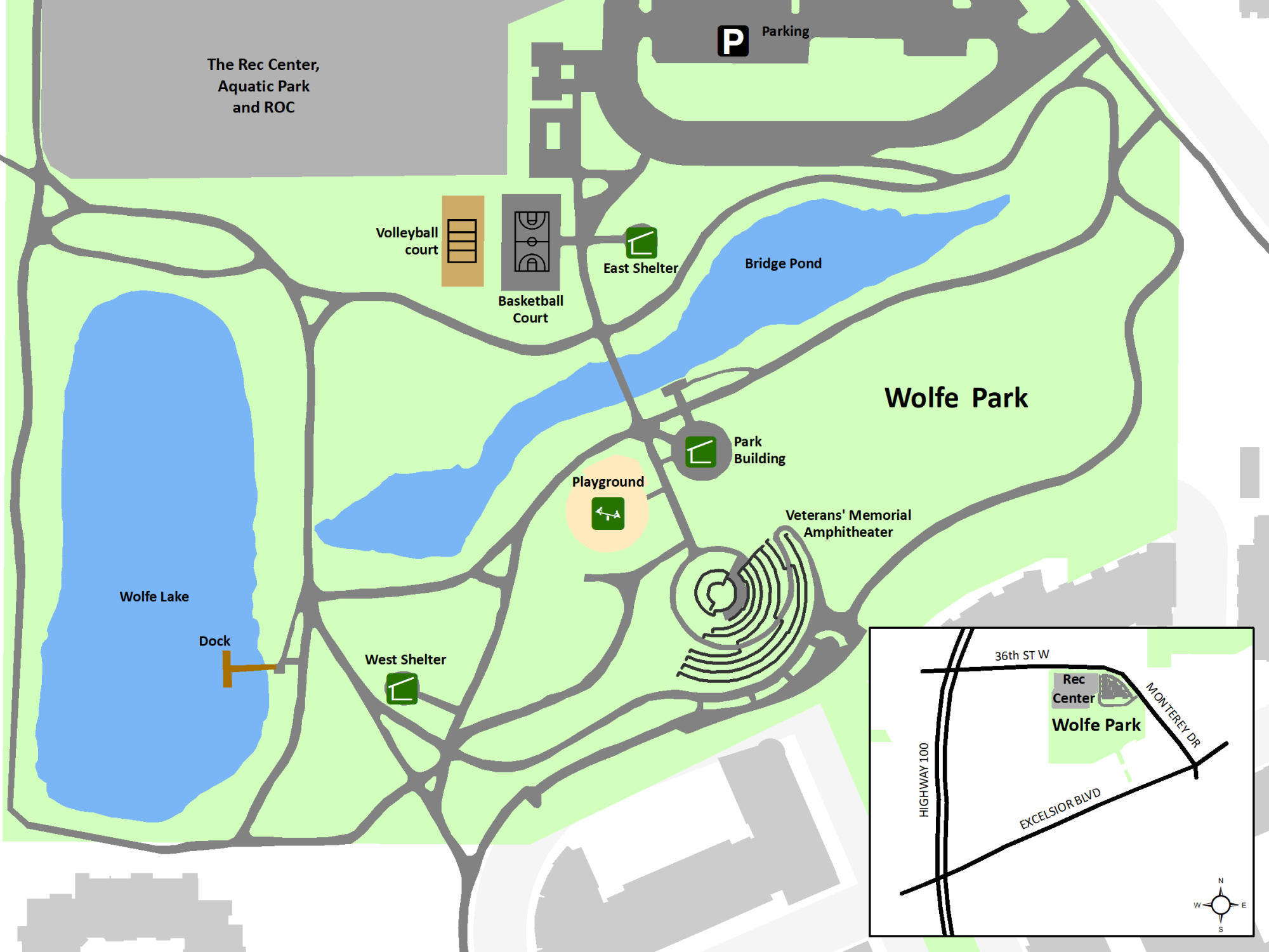 Wolfe Park layout map