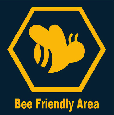 Bee-friendly area sign
