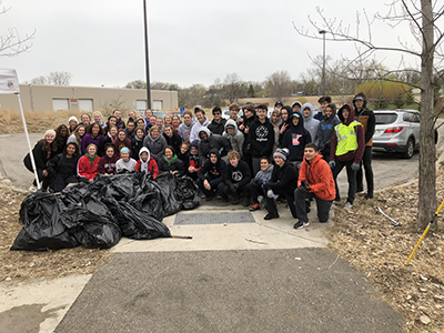 Minnehaha Creek cleanup 2019 group photo
