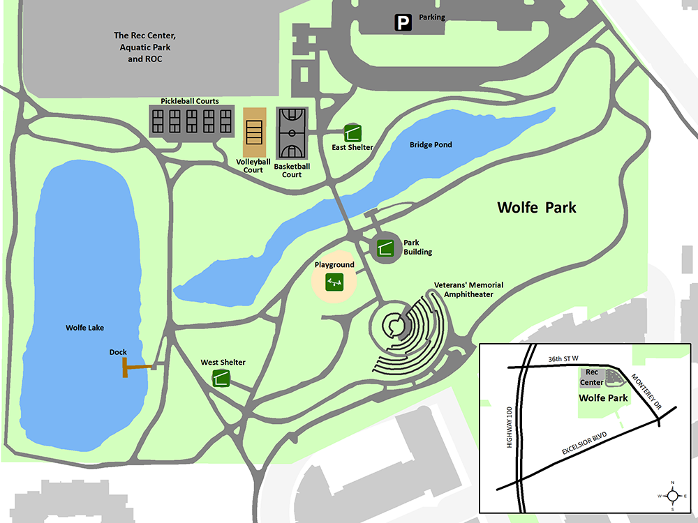 Wolfe Park map