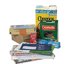 acceptable recyclables - phone books, mail, pasta boxes, cereal boxes