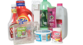 acceptable plastic recyclables - milk jugs, yogurt containers, shampoo bottles, laundry detergent, pop bottles