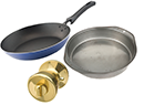 Recyclable Scrap Metals - metal bakeware, door knob